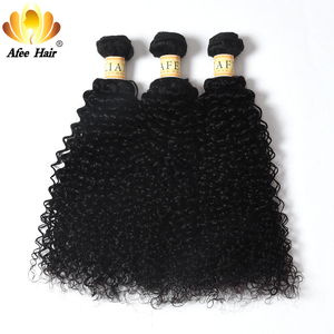 Image 4 - Aliafee Hair Kinky Curly Hair Bundles With Closure Non Remy Hair Weave Malaysia Kinky Curly 3 Bundles Deal With Closure