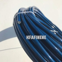 """AN3 Automotive motorcycle 1/8"""" 316 stainless steel wire braided PU coverred PTFE brake line fuel hose line 1M"""
