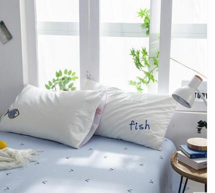 Простые Промытые хлопчатобумажные тканевые наволочки наволочка на подушку Милая кровать, наволочка 1 пара