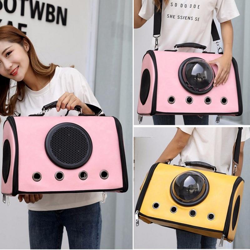 2018 NEW Pet Travel Backpack Dog Cat Space Capsule Bag Breathable Shoulder Backpack Outside Carriers Portable