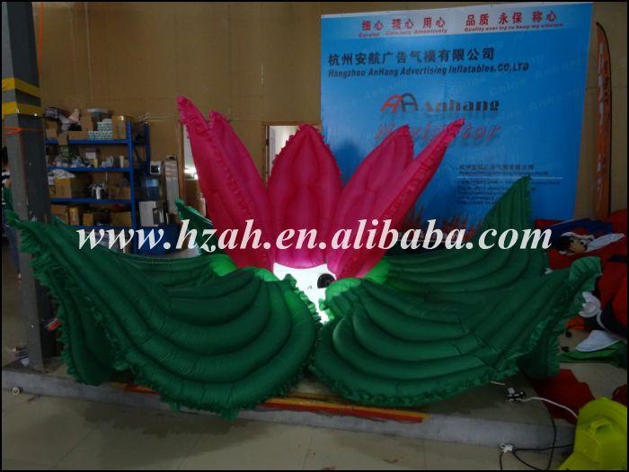 La flor inflable roja y verde más nueva con la luz del LED para la - Mueble - foto 2