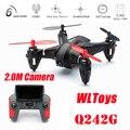 Новое Прибытие WLtoys Q242G Мини 5.8 Г FPV С 2.0MP Камера 2.4 Г 4CH 6 Ось RC Quadcopter RTF-случайный Цвет Послал