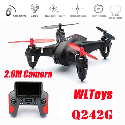 New Arrival WLtoys Q242G Mini 5.8G FPV With 2.0MP Camera 2.4G 4CH 6Axis RC Quadcopter RTF- Random Color Sent new arrival free shipping new arrival mjx x705c x705 wifi rc helicopter quadcopter 2 4g 4ch rtf with without c4005 fpv camera