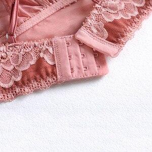 Image 5 - CNIOON Nuovo Stile Francese Sexy Lingerie Pizzo Floreale Biancheria Intima Spinge Verso Lalto Insiemi Del Reggiseno wireless Confortevole reggiseno di Pizzo Lingerie set