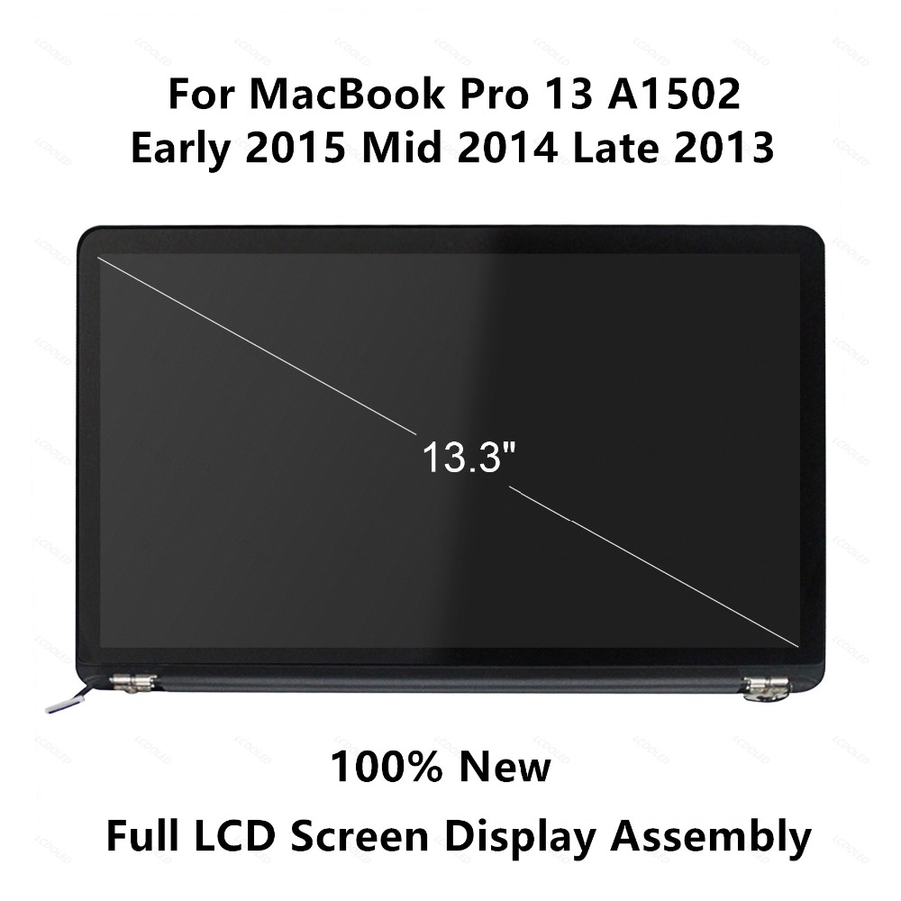 100% New LED LCD Screen Display for Apple MacBook Pro Retina 13 A1502 Early 2015 year EMC 2835 Late 2013 Mid 2014 EMC 2678 2875 3pcs lot new for macbook pro retina 13 a1502 2015 lcd led display screen lp133wq2 sja1 lsn133dl02 a02 2013 2014