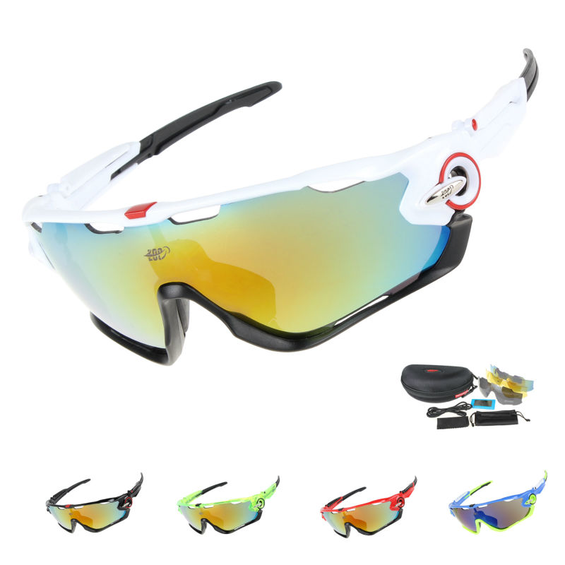 138a9daa4b EOC Professional Polarized Cycling Glasses Bike Goggles Driving Fishing  Outdoor Sports Sunglasses UV 400 3 Lens TR90 6 color