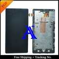 Free Shipping 100% tested  Original For Nokia 1520 LCD  lumia 1520 LCD Display Screen Digitizer Assemlby With Frame - Black