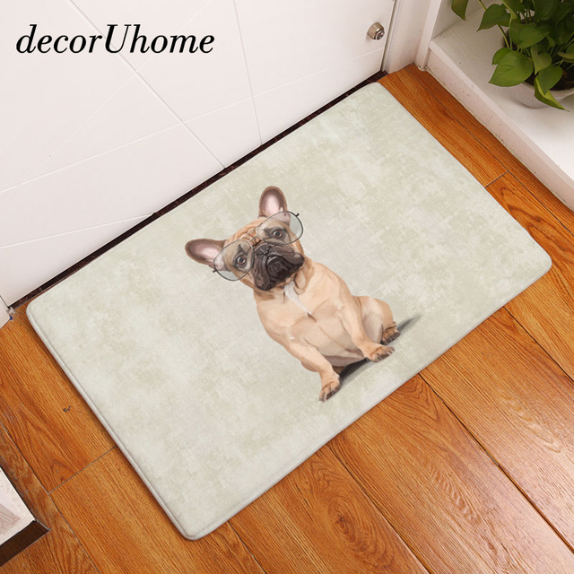 Decoruhome Waterproof Anti Slip Door Mat Cute Cartoon Dog Hamster Carpets Bedroom Rugs Decorative Stair