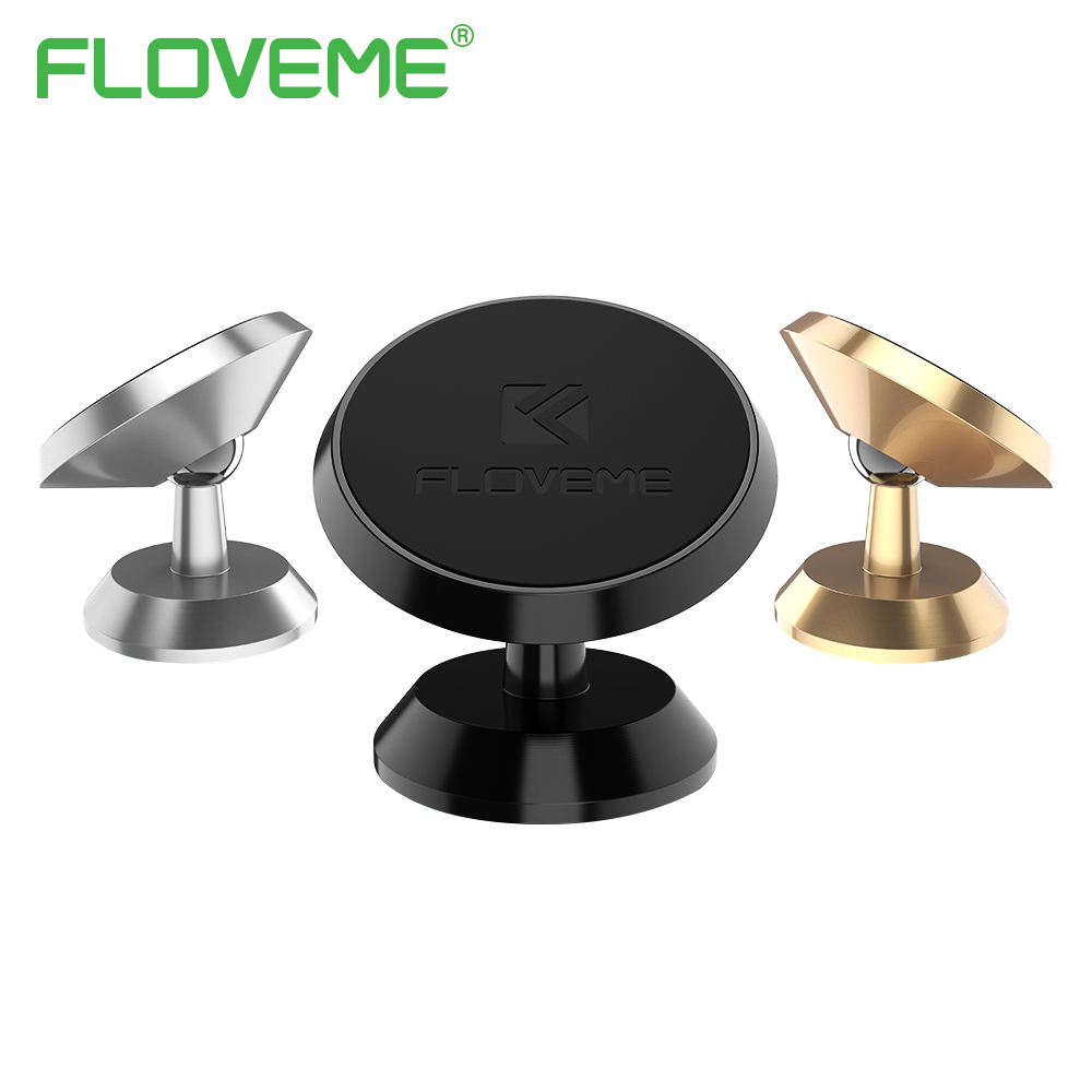 FLOVEME Universal Magnetic Car Phone Holder 360 Rotation GPS Mobile Phone Magnet Mount Car Holder Stand For iPhone Tablet