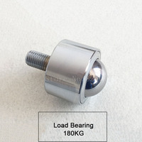4PCS Precision type universal ball/caster/wheel, load bear 180kg, with bearing/M16 screw ,flexible durable ball JF1357