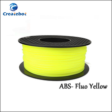 3D Printer material Fluo-Yellow ABS filament Plastic ABS Filament 1.75mm 3mm 1KG 3D Printer Parts Filament