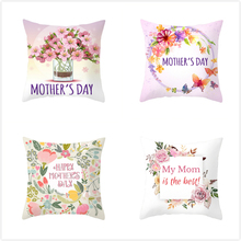 Fuwatacchi Pink Floral Throw PillowCase Cushion Covers Rose Pillow Cover for Sofa Chair Decorative Happy Mothers Day Pillowcase
