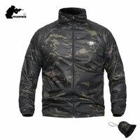Новая камуфляжная тактическая куртка из кожи с уплотнением летняя водонепроницаемая куртка с защитой от солнца Comabt брендовая мужская верх...
