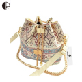 DUSUN Promotion Hot Women Chains Fashion Bucket Bag Canvas Patchwork Houndstooth Brand Messenger Bag Bolsas BS391
