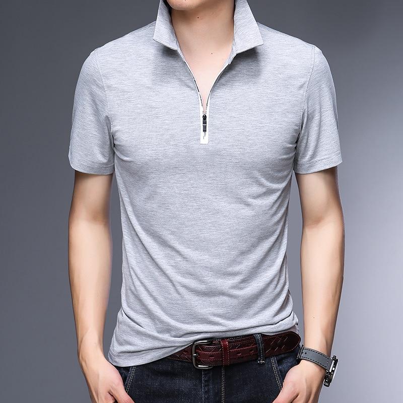 New 2018 summer mens slim plain color polo shirts male fashion design pure cotton short sleeve polos clothes 4