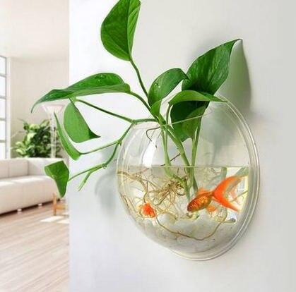 Achetez en gros poisson rouge bol en ligne des for Bocal mural poisson