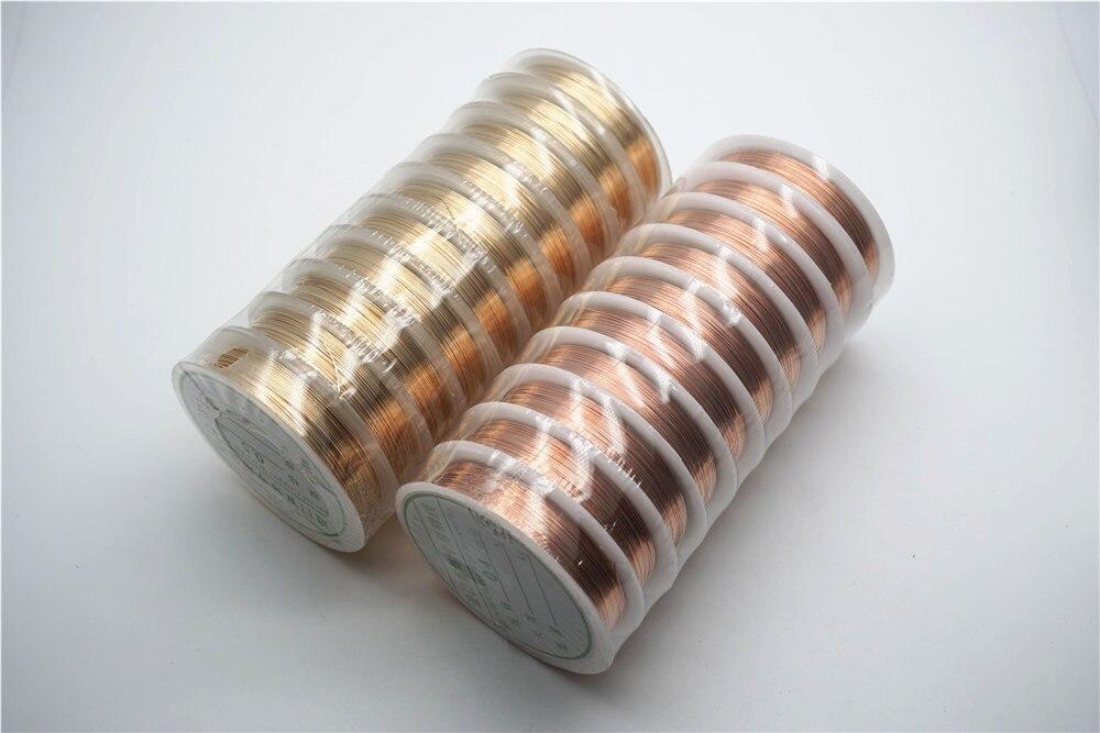 Четырехслойный разноцветный комбинезон серебро Медный провод для браслет Цепочки и ожерелья самодельные Украшения, Аксессуары 0,2/0,25/0,3/0,5/0,6/1,0 мм ремесло Бисер провода HK018