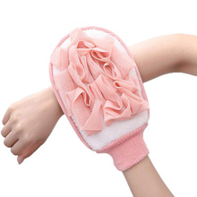 Home Exfoliating Bath Sponge Wisp for Shower Scrubber Double Sided Body Cleaning Brush Gloves Massage Towel Ball