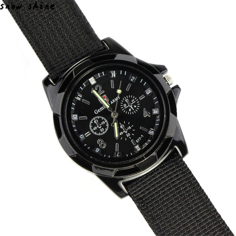 snowshine 10 Fashion Gemius Army Racing Force Military Sport Men Officer Fabric Band font b Watch