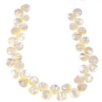 Natural sea shell white Mother of Pearl Shell teardrops Spacer Loose Beads full strand