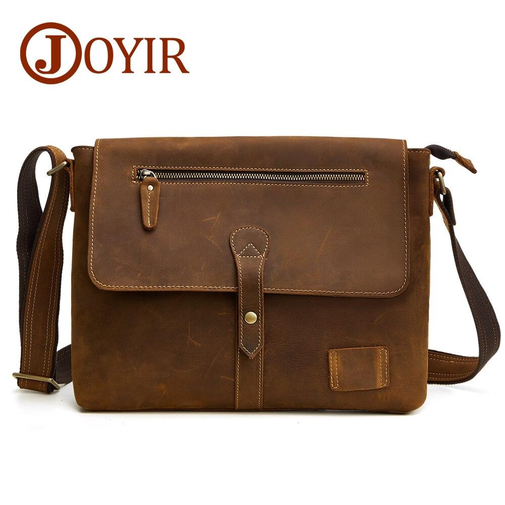 b2514a6d7764 Joyir из натуральной коровьей кожи портфель деловая сумка кожаная сумка-мессенджер  сумка для ноутбука на молнии и застежке мужские Офисные Су..