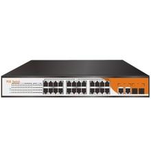 energy pin IEEE802.3af/at energetic poe swap 24 port 1U 19″ rack mount energy provide community poe 400w with 2 gigabit sfp/rj45