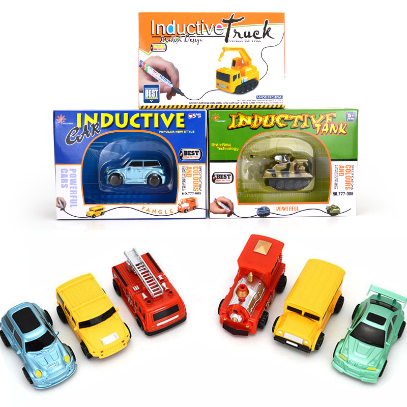 1 Piece Fangle Magic Toy Truck Induktiv Car Giochi Di Prestigio Trucos Magia Grävmaskin Tank Byggbilar