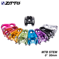 ZTTO Bicycle Stem MTB 50mm 31.8mm High Strength CNC Machined 0 degree rise Aluminum Alloy Stem for XC AM FR En Bike Cycling part