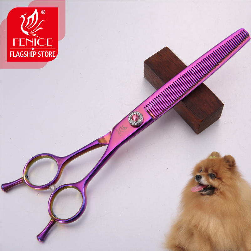 Fenice brand Japanese 440C stainless steel 7 0 inch Professional Pet grooming Cutting Thinning scissors