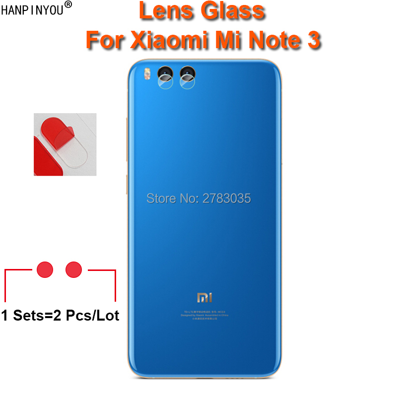 For Xiaomi Mi Note 3 Note3 5.5 Clear Ultra Slim Back Camera Lens Protector Rear Camera Lens Cover Tempered Glass Film