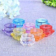 100Pcs 3g/5g 3ml/5ml Empty Sample Vial Jar Pot Container Fit Makeup Cosmetic Face Cream Lips Balms Pigment Nail Art Glitter bead