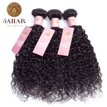 Sahara Brazilian Non Remy Hair Extension Water Wave 100% Human Hair Weave Bundles 1/3/4 Pcs Human Hair Weave Weft Natural Color(China)