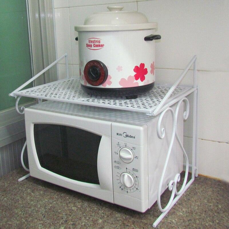 Uno microwave oven shelf rack multifunctional kitchen supplies shelf floor storage rack in - Estante microondas ...