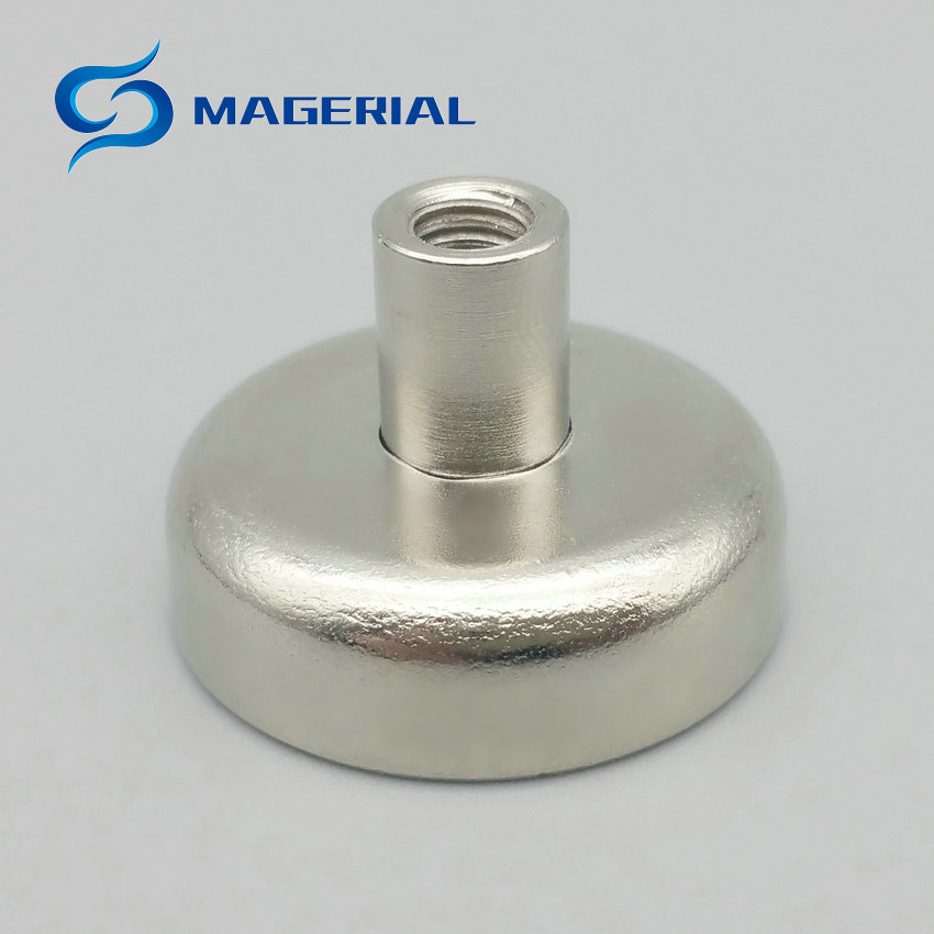 50pcs 3-10kg Pulling Mounting Magnet Diamwter 20&25 mm Magnetic Pots with Thread Neodymium Permanent Strong Holding Magnet 2pcs mounting magnetic disc diameter 88 mm led light holding spotlight holder male thread ndfeb magnet strong neodymium magnet