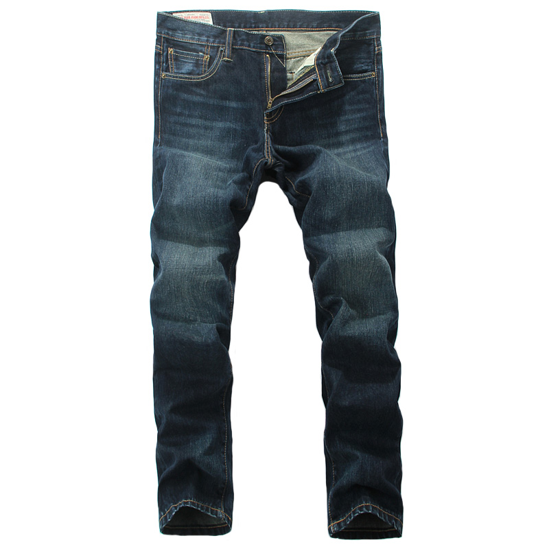Men`s Dark Jeans Pants High Quality Slim Fit Moto Biker Jeans Brand Designer Retro Denim Jeans Men B802 classic mid stripe men s buttons jeans ripped slim fit denim pants male high quality vintage brand clothing moto jeans men rl617