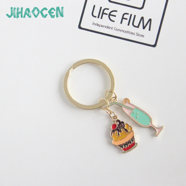 Keychains For Women Zinc Alloy Ice Cream Accessories Popular Gold Color  Boho Keychain Mujer Online Shopping Indian Jewelry CC 56244520ac5b
