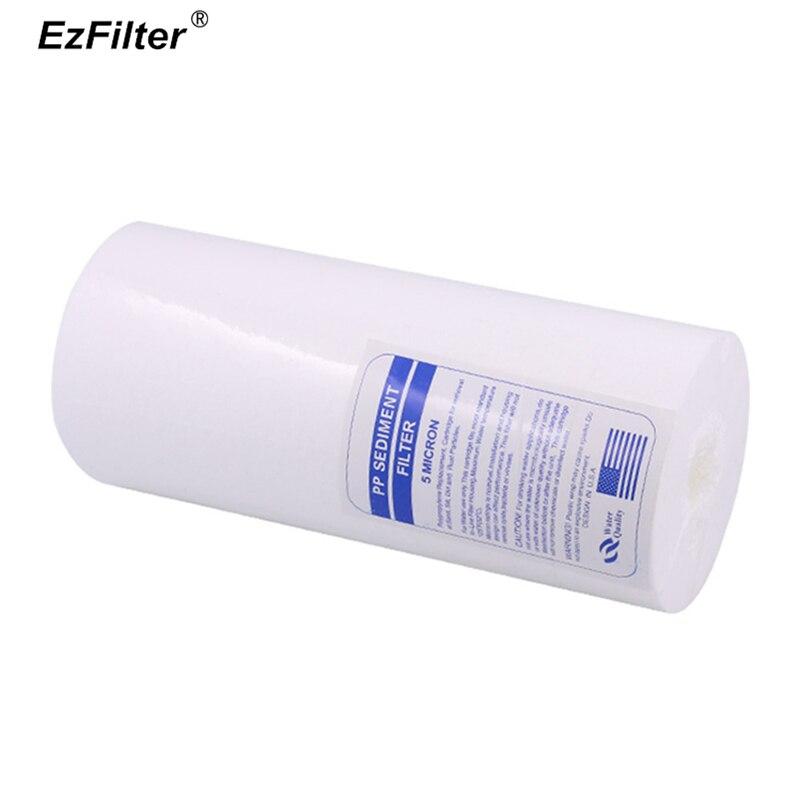 """PPF bawełna filtr 10 """"x 4.5"""" Jumbo wkład do filtra osadu PP 5 mikronów dla całego domu duży niebieski obudowa filtra w Filtry do wody od AGD na  Grupa 1"""