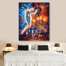 DIY colorings pictures by numbers with colors Abstract body art Nude painting picture drawing  framed Home
