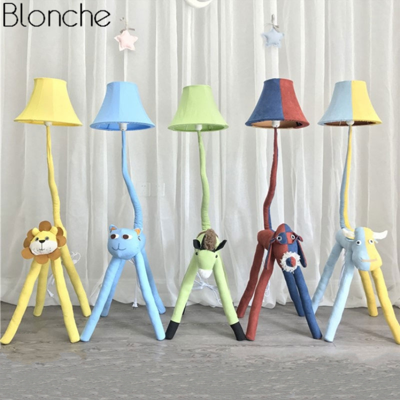 Wonderful Modern Cartoon Animal Floor Lamp For Childrenu0027s Kids Room Bedroom Fabric  Lamp Shades Stand Led Standing Light Fixture Home Decor In Floor Lamps From  Lights ...