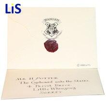 Harri Potter Hogwarts carta de aceptación Paquete de cinco piezas traje Cosplay accesorios para adultos y niños regalo de cumpleaños
