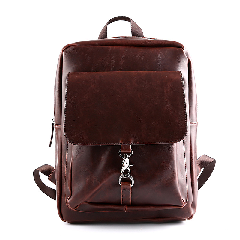 2017 Newest Men's Leather Backpack Schoolbag Vintage Solid Leather Backpack men Large capacity Travel Laptop Backpack mochila temporomandibular disorders and prosthetic replacement of missing teeth