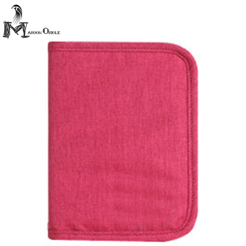Maroon Oriole passport wallet credit card holder security travel wallet nylon card holder 5 colors passport holder passport футболка passport pg221244 299