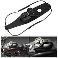 Schwarz Motorrad Gas Tank Taschen Retro Wasserdichte Dash Konsole Center Tasche Tasche Leder Fit für Harley Sportster XL48 883 1200