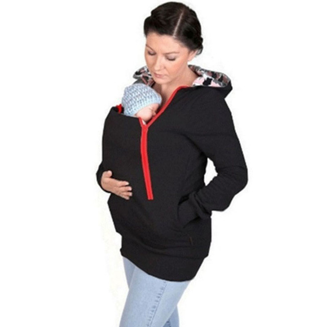Winter Thickened Hooded Baby Carrier Coat Maternity Hoodies Kangaroo Jacket  For Pregnant Women Outerwear Pregnancy Sweatshirts b87ec5177