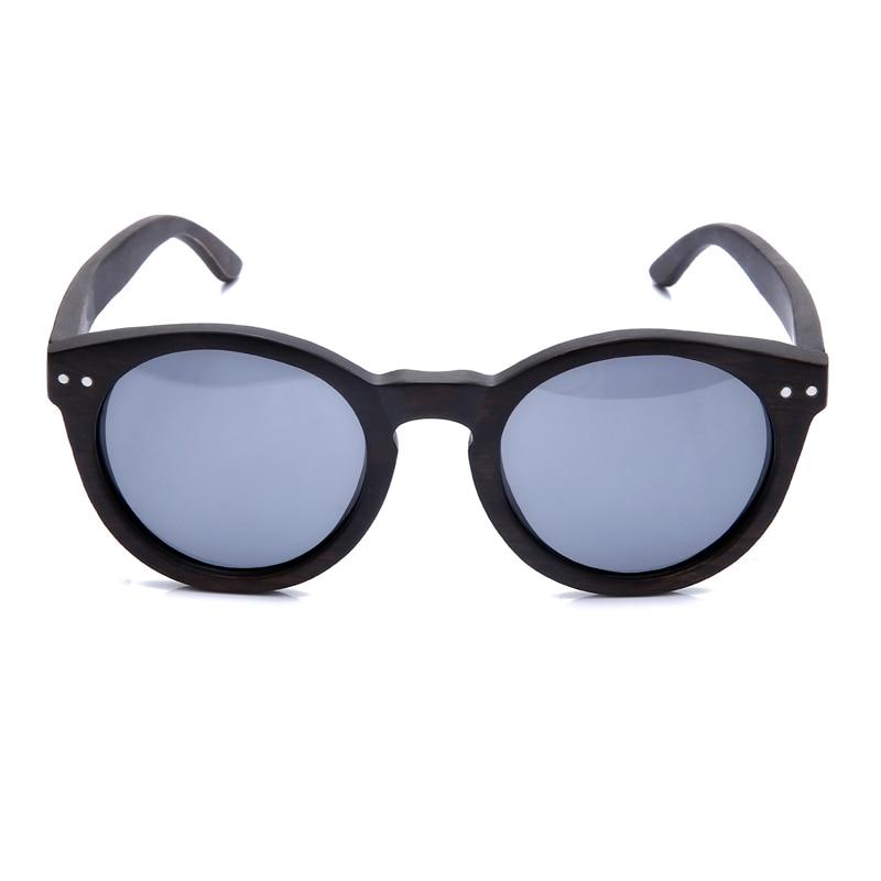 2018 Dames Heren Cateye Houten Zonnebril Vintage ronde zonnebril - Kledingaccessoires - Foto 4