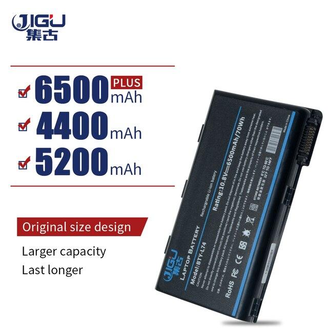 JIGU 6 элементов ноутбука аккумулятор для MSI A5000 A6000 A6200 A6203 A6205 A7200 серии Заменить: BTY-L74 BTY-L75