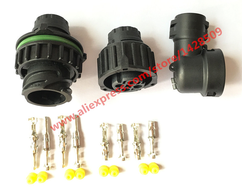 1 Set 4 Pin 1-967325-3 965783 Auto Sensor Plug Waterproof Electrical Wire Connector With Sheath For Car Oil Exploration Railway