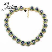 2014 Cute Green Flower Statement Choker Necklace Charm Necklace Jewelry Design Jewelry Min 20 Can Mix