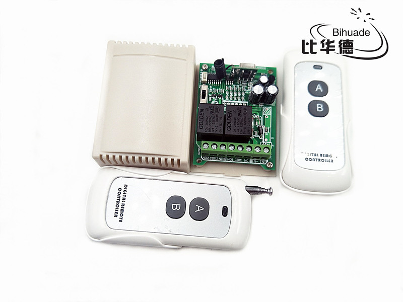 433Mhz Universal Wireless Remote Control Switch DC 12V 2CH relay Receiver Module with RF Transmitter 433 Mhz Remote Control image