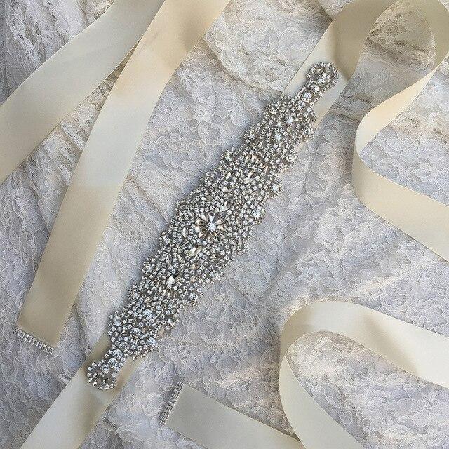 Free Shipping Bridal Belt  12 Colors Wedding Accessories Luxury Cheap Rhinestone Wedding Belt Sash Crystal 2017